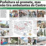 """Diário do Nordeste - """"É proibido embaraçar ou impedir, por qualquer meio, o livre trânsito de pedestre ou veículo nas vias públicas, praças, passeios, estradas e caminhos públicos""""."""