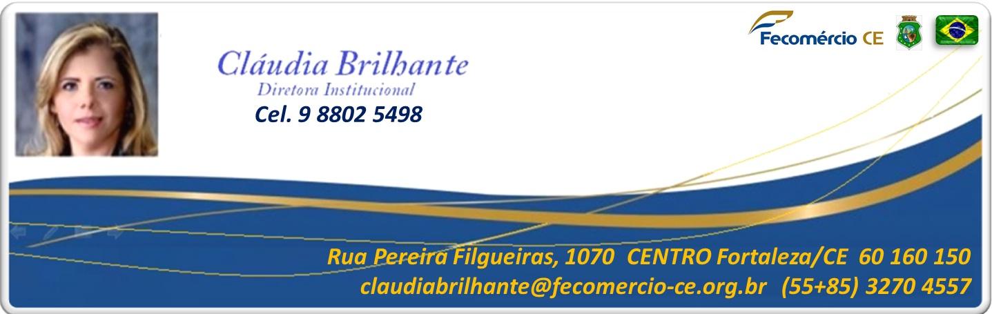 Fecomércio logo Claudinha inter