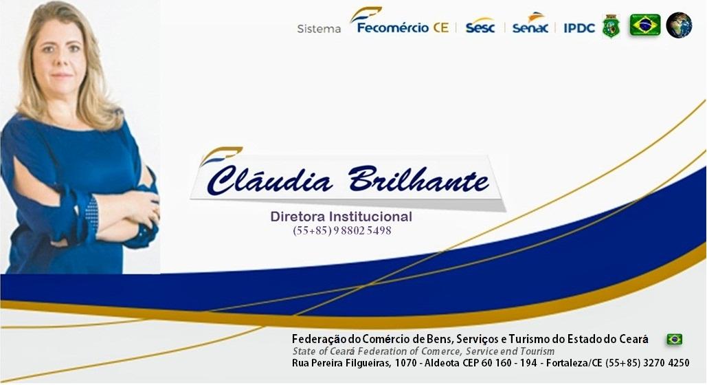 Fecomércio logo Claudinha